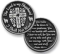 Dozen (12) Pewter The LORD is My SHEPHERD I Shall Not Want - Pocket PRAYER Tokens - PSALM 23 - 1