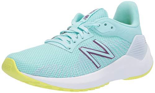 New Balance Women's Ventr V1 Running Shoe, Bali Blue/Lemon Slush/Moon Dust, 5 M US