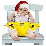 GXFLO Der Waschbare Tragbare Reise-Hochstuhl-Zusatz-Baby-Sitz Mit Bügeln Kleinkind-Sicherheits-Geschirr-Baby