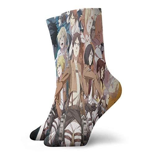 ngshihuainingxianruangaoshngshihuainingxianruangao Angriff auf Titan Group Anime Style Unisex bequeme lässige Socken kurz, Boot Socken One Size