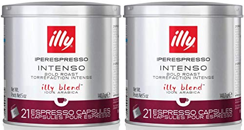 illy iperEspresso Capsules Dark Roasted Coffee, 5-Ounce, 21-Count Capsules (Pack of 2)