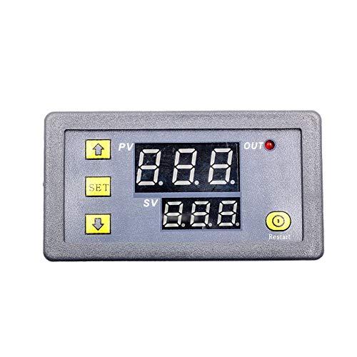 Interruptor de tiempo de retardo de tiempo de retransmisión digital con pantalla LED de control de ciclo de temporizador multifunción DC 24V