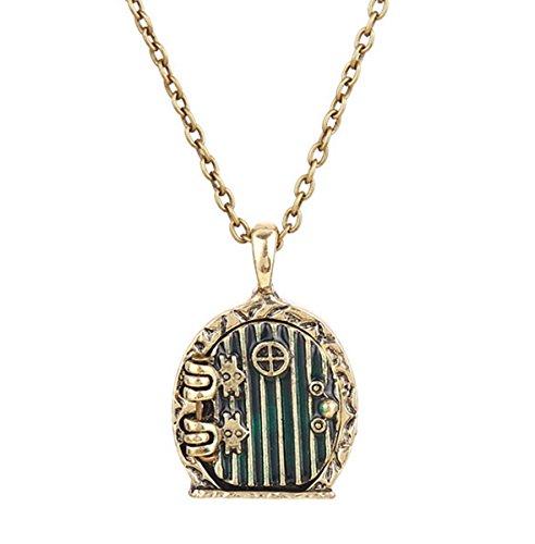 Herr der Ringe der Hobbit unerwartete Reise Halskette Halsanhänger Kette Halsschmuck Accessoires Design Schmuck Käfig antik bronze
