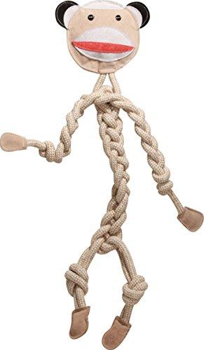 HuggleHounds Durable, All-Natural Rope Knotties, Sock Monkey, Regular