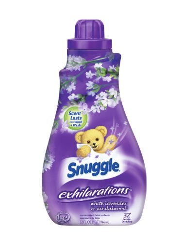 Snuggle Exhilarations Liquid Fabric Softener, White Lavender & Sandalwood, 32 Loads (Pack of 9)