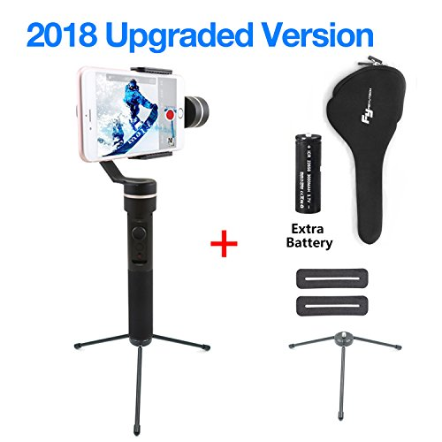feiyu SPG (, Splash Waterproof Versione with Extra Battery and Trip) 3assi Handheld Stabilizer Gimbal for GoPro Hero 5/4/3and iPhone X/8/7/6Huawei Samsung Galaxy Moto LG Smartphone