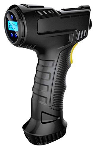 Inflador de neumático inalámbrico, compresor de aire recargable USB de mano, medidor de presión de la bomba de aire inflable de la luz de luz LED para bolas y artículos inflables como colchón de campi