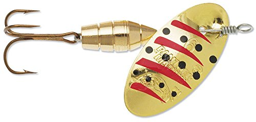 Panther Martin Deluxe Gold/Black/Red 1/8-Ounce Spinning Lure, 1/8 oz