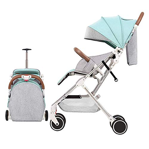 Read About Baby Stroller Four Wheel Pushchair with One Hand Fold, Small Foldable, Buggy with Lying P...