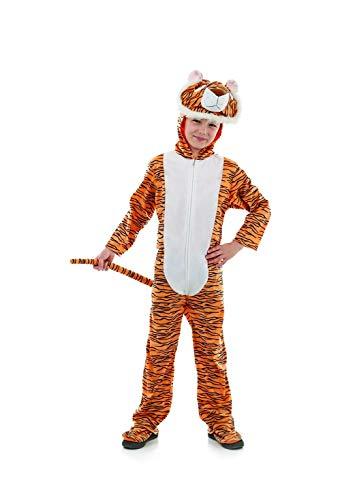 Fun Shack Orangenes Tiger Kostüm für Kinder, Tierkostüm Jungen Mädchen, Faschingskostüm - M