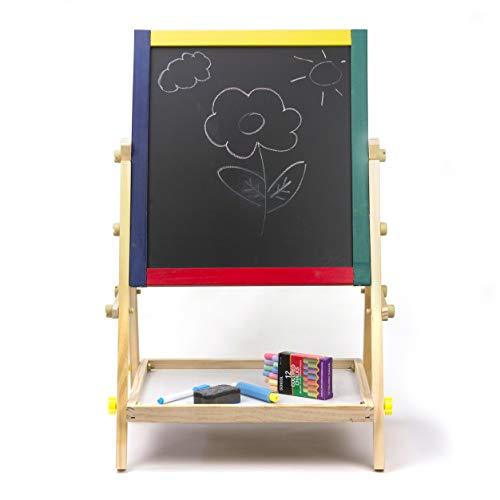 Kinderbord houten bord Staand bord 2 in 1 schoolbord schrijfbord Tekenbord Complete set