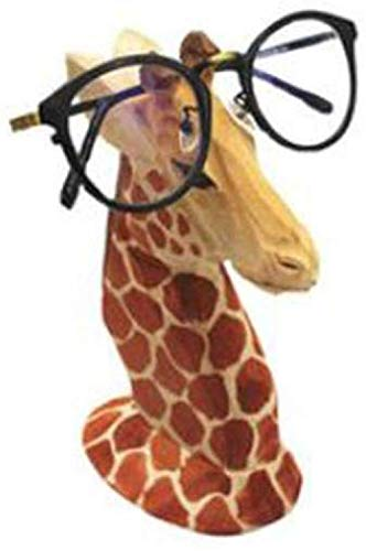 RSRZRCJ Estatuas Figuritas Decorativas Gafas Marco Soporte Gafas De Sol Expositor Animal Creativo Madera Maciza Joyería Regalo Gafas Tienda Decoración -B