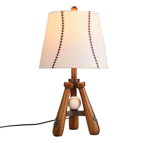 SLEVE Lampes de Table en Bois avec Tissu Abat-Jour Trépied 3 chevets Jambes Bureau Lampe de Chevet Ensemble de Chambre Salon College Dorm
