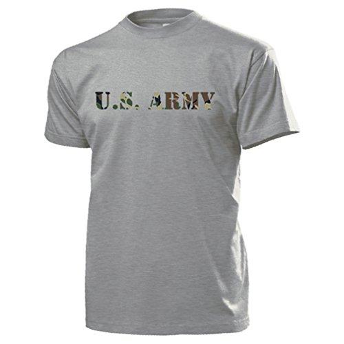 Copytec U.S. Army in America Scritta USMC America USA Military Uniform–T Shirt # 14574 Grau XX-Large
