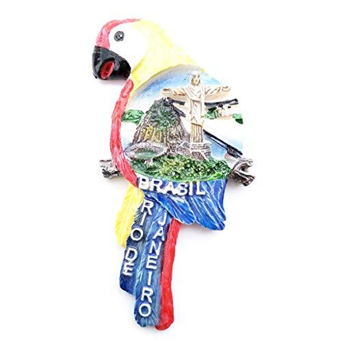 YU-HELLO _3D resina imán de nevera Taiwán Brasil Chile España turística recuerdo regalo refrigerador magnético calcomanías etiqueta DIY decoración del hogar