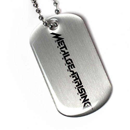 Metal Gear Rising dog tag avec chaîne