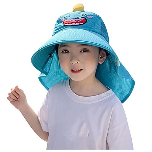 OPAKY Sombrero para el sol para bebé, diseño de ala grande, para verano azul 52