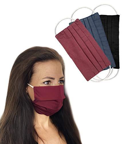 Community Masken 3er Pack Set Unisex Behelfsmaske Wendbar Mundschutz Maske Mund- und Nasenschutz Wendemaske mit Motiv Baumwolle BCI Waschbar