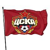 TUCBOA Poliéster Bandera,Bandera CSKA Moscú Color Vivo Y Bandera Resistente A La Decoloración UV