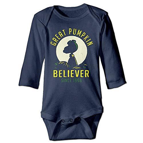 ngmaoyouxis Garçons et Filles Great Pumpkin Believer Infantile Coton bébé personnalisé grenouillères