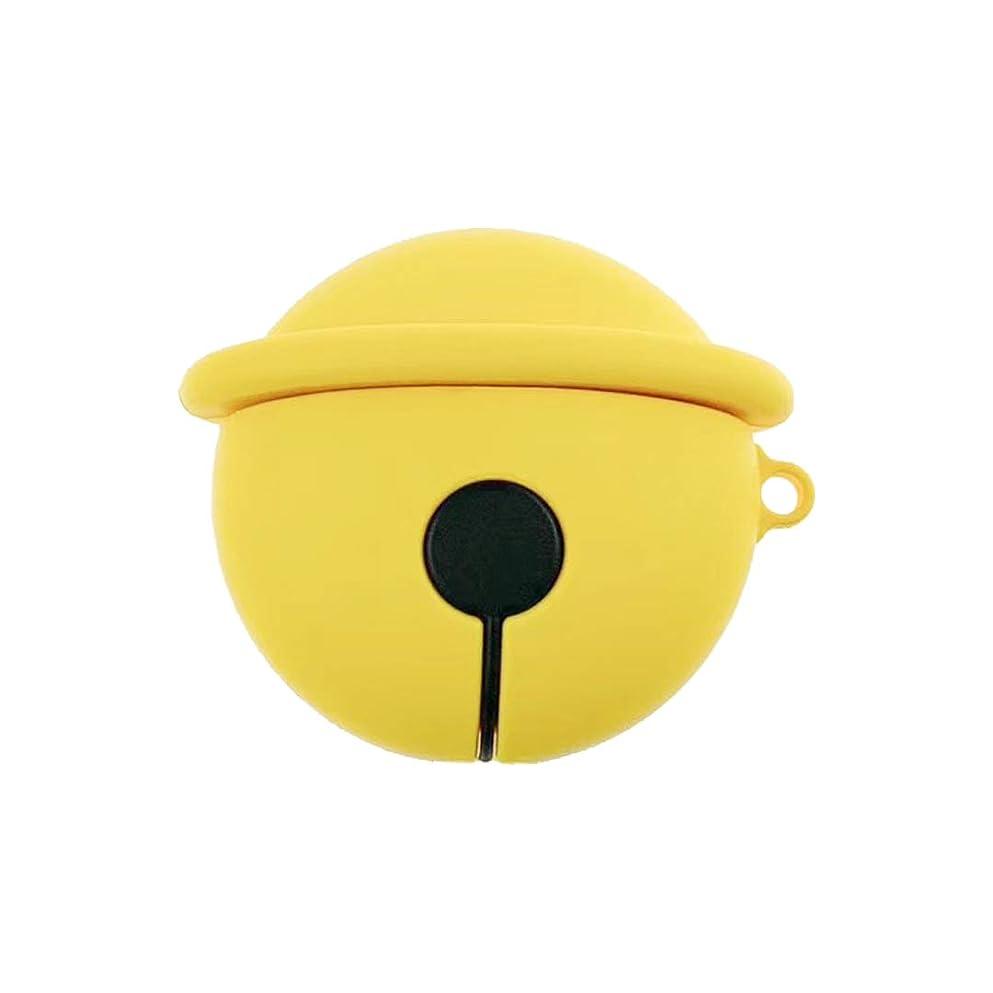 耳ジムロンドンNAKOP AirPods カバー Apple AirPods 第1/2世代に適用 ミニマル かわいいベルヘッドホンセット AirPods保護カバー、防塵 耐衝撃 airpods ケース キズ防止 滑り止め アルミ製 エアーポッズ ケース 充電可能 ワイヤレス充電可能 耐衝撃 防塵 軽量小型 AirPods第1世代と第2世代に対応 (イエロー)