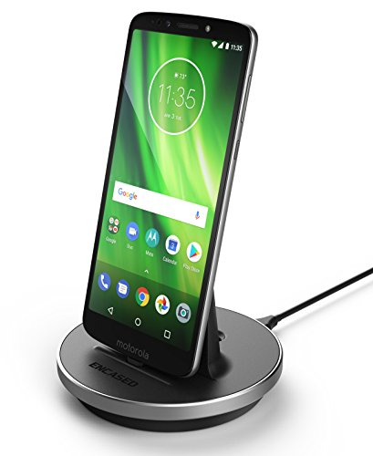 Encased Moto G Power/Moto G Stylus Charger, Fast Charging Stand Dock for Motorola USB C Phones - Type C Power Cable Works with Quick Charge Adapter (Moto G6/G7) Case Friendly Design