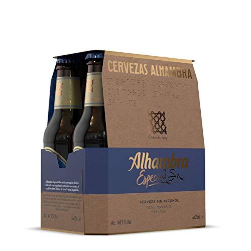 Alhambra - Especial Botella Cerveza Dorada, 0.75% Volumen de Alcohol - Pack de 6 x 25 cl