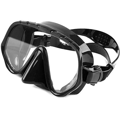 Zwemmende snorkelbril Duikbril Masker Anti Fog Silicone Half-gezichtsglazen Gehard glazen lens