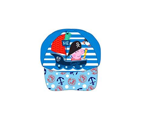 Peppa Pig Wutz Kappe Gr. 52 Mütze Mädchen Cap Kinder Kita Schule Basecap Schirmmütze mit Sticker-von-Kids4shop