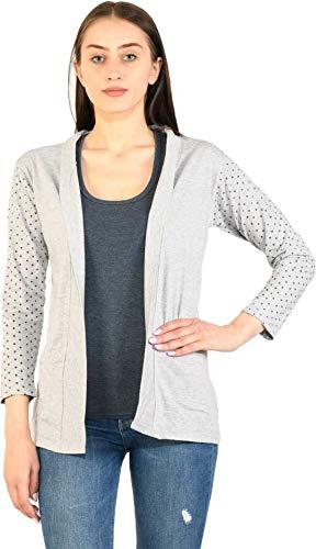 BG ONLINE Women/Girl's Cotton Casual Shrugs with Pocket & Full Sleeves