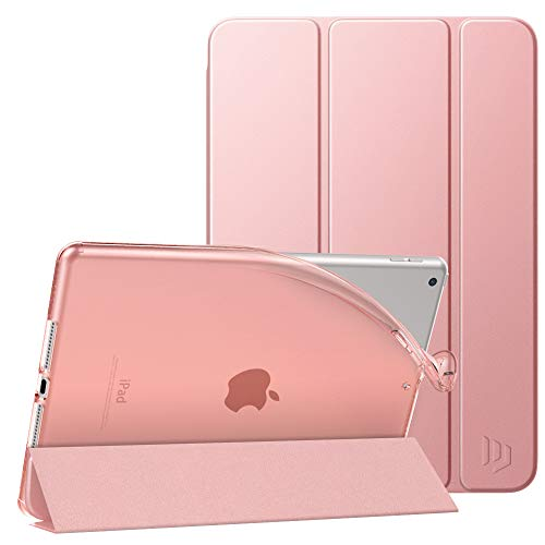 Dadanism Case for iPad 8th Generation Case 2020/iPad 7th Generation Case 2019,[Flexible TPU Translucent Frosted Back] Smart Stand Slim Protective Cover Fit iPad 10.2 inch Tablet, Rose Gold