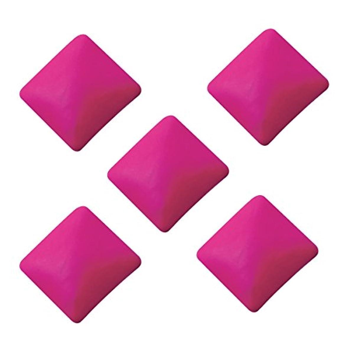 ダムガイダンス施しネオンスタッズ スクエア 3×3mm(100個入り) ピンク