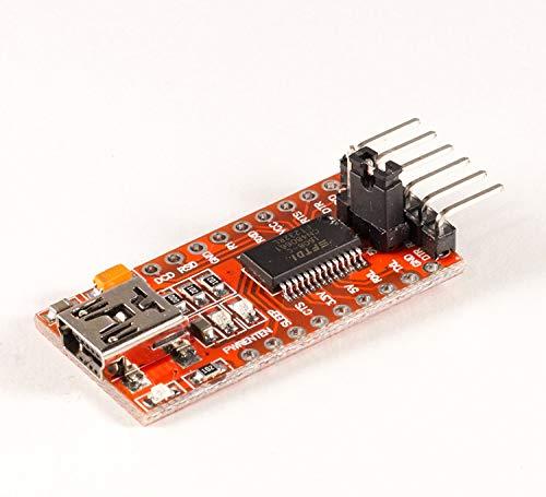 Movilideas FTDI Adaptador FT232RL USB a TTL Serie para 3.3V y 5V