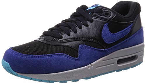 Nike Men's Air max 1 Essential Blue/Black 599820-016 Blue/Black (Size: 9.5)