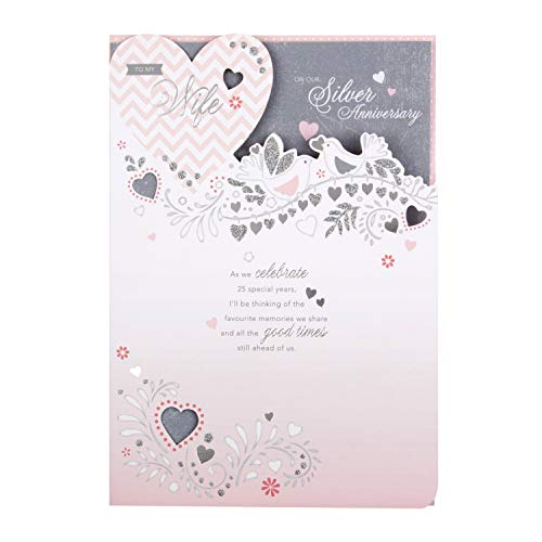 Hallmark - Tarjeta de aniversario de boda para esposa de Hallmark, diseño troquelado