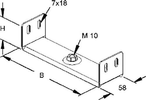 Niedax Aufhängebügel RTU 60.250 RL;RLV;RSV Wand- und Deckenbügel für Kabeltragsystem 4013339199105
