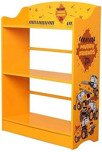 descuento de bajo precio Kidsaw Ltd, Ltd, Ltd, JCB Barro Amigos estantería, Madera, amarillo, 24x 24x 80cm  grandes ofertas