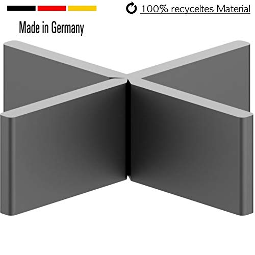 100 Stück Profi Fugenkreuze 3mm für Terrassenplatten nach DIN EN ISO 9001:2008-15mm Höhe T-Stück Schenkel abbrechbar 100% recyceltes Material - Feinsteinzeug Abstandhalter Platten Kreuze (3mm)