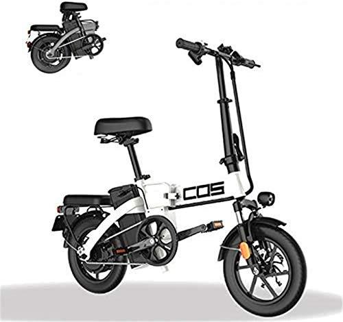 Bici electrica, Inteligente montaña Bicicleta Plegable eléctrica, for Adultos, la Gama de energía a 280 kilómetros de la Bicicleta Desmontable 48V / 28.8Ah de Iones de Litio con 3 Modos Riding