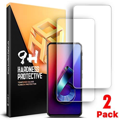 iHOY - Protetor de tela para ASUS ZenFone 6, Dureza 9H, Vidro temperado Transparente, Anti-risco, Anti-impressão digital, Sem bolhas, Pacote 2, Transparente, ASUS ZenFone 6
