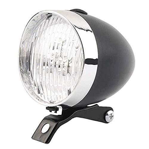 Retro Ligero de la Bicicleta a Prueba de Agua Ultra Brillante LED for Bicicleta Frente Cabeza Ciclo de la Seguridad de Las Luces de luz Luz Bicicleta (Size : Black)
