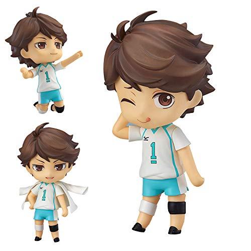 Nendoroid Haikyuu Anime Nendoroid Figura de acción hecha a mano, 10 cm, Toru Kagawa/Hyuga Xiangyang/Kageyama Tobio (cara intercambiable)