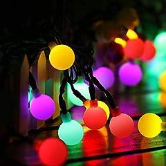 Guirnaldas Luces Exterior Solar 60LED 10M Luces Navidad 8 Modos Cadena de Luces, IP65 Impermeable Luces Solares LED Exterior Jardin para Navidad, Fiesta, Boda, Festival, Jardin (Multicolor)