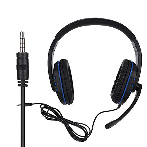 Over-Ear Gaming Headset, Head-Mounted Wired Stereo Bass Surround Competitive Game Headphone with Microphone for PS4/Slim/Pro/ONES X/Switch