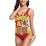 España Bandera Bikini Traje Baño para Mujer Traje Baño Una Pieza Traje Baño Entrenamiento Atlético Sexy Cross Lace Up Trajes Baño Estampado Espalda Baja S