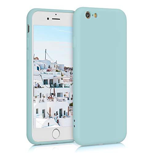 kwmobile Carcasa Compatible con Apple iPhone 6 / 6S - Funda de Silicona para móvil - Cover Trasero en Menta