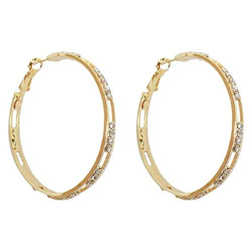 ZAIZAI Metal Earrings Exquisite Micro-inlaid Zircon Net Red Earrings Women's Light Luxury Fashion Earrings