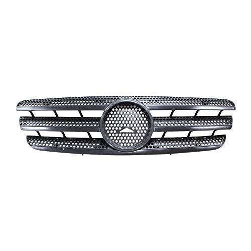 Perfit Liner New Front Black Grille Grill Compatible With MERCEDES Benz W163 ML Class ML320 ML350 ML430 SUV Fits MB1200139 1638800185