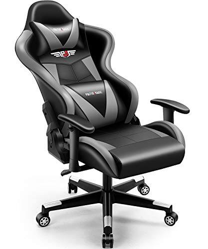 PatioMage Gaming Chair Ergonomic Office Chair Support Comfortable High Back Adjustable Reclining Computer Desk Chair Swivel Chair