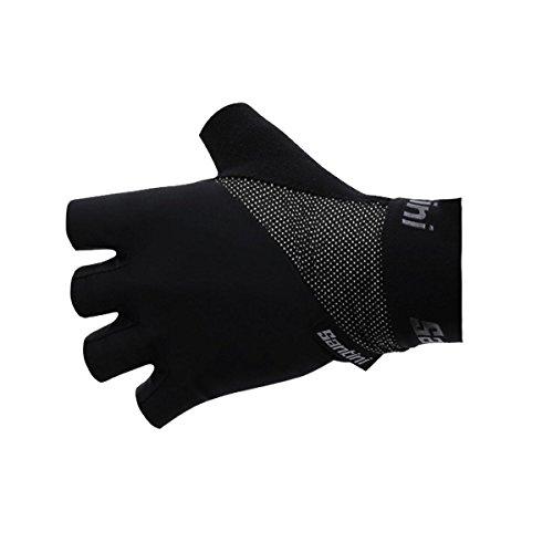 Santini Herren Origine Short Finger Handschuhe Kinder, Schwarz, L